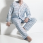 Preview: Pyjama long mit Knopfleiste/buttened Flannel Night and Home ISAbodywear(ISAnhISAnh9861)