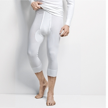 Leggings 3/4 with open fly Harry Doppelripp Austria ISAbodywear(ISAdr1020)
