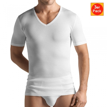 V Shirt 1/2 Arm 3er Pack Cotton Pure Hanro (HAcp36653er)