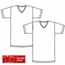 V Shirt 1/4 Arm Doppelpack Flash Basic ISAbodywear(ISAfpd315124)
